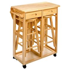 Have to have it. Drop Leaf Kitchen Table with 2 Round Stools $139.99