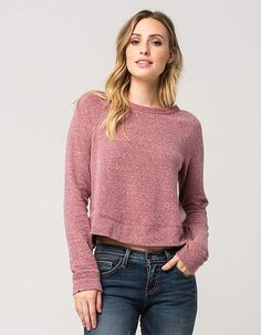 FULL TILT Washed Crop Womens Sweatshirt