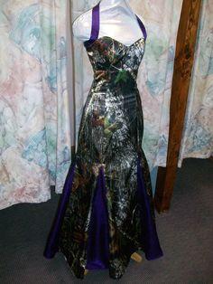 'Leah' Custom Made Full CAMO Prom Wedding Bridesmaids Mermaid Dress w/godet's #Handmade