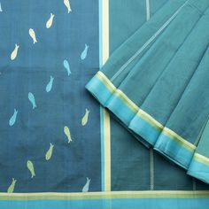 Ethicus Handwoven Organic Cotton Sari 1012312 - Sari / All Saris - Parisera