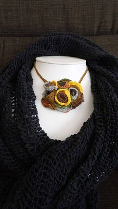 A handmade elegant necklace by BulbaDesign on Etsy Crochet Necklace, Elegant, Trending Outfits, Unique Jewelry, Awesome, Handmade Gifts, Vintage, Etsy, Fashion