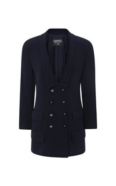 Chanel Navy Jacket from What Goes Around Comes Around by Collectible Jackets - Moda Operandi