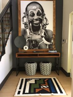 african home decor Home decor goals. You can find more African-inspired companies to shop with in the OBWS directory. in the bio! Home Interior, Interior Decorating, Kitchen Interior, African Living Rooms, African Themed Living Room, Interior Tropical, African Interior Design, African Design, African Style