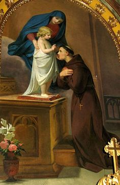 Saint Anthony Of Padua, Melchior Paul von Deschwanden Pray to St. Anthony every Wednesday, month of June for special graces.