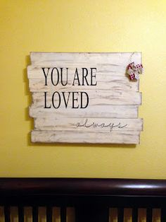 So many ideas for this - on their walls, on a tile, on a frame, on pallet boards just like it's pictured...