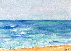 ACEO Seascape watercolors paintings original by SharonFosterArt