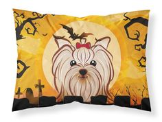 Halloween Yorkie Yorkshire Terrier Fabric Standard Pillowcase BB1762PILLOWCASE
