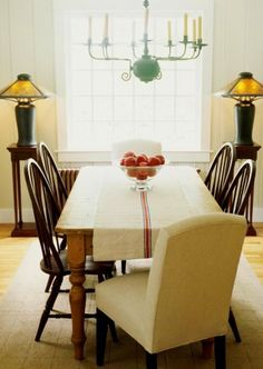 Mix & Match wood tones and styles with dining table and chairs