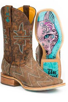 Tin Haul Zig Zag Women's Cowgirl Boots - HeadWest Outfitters