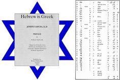 Τα Εβραϊκά (και Αραβικά) είναι Ελληνικά!