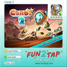Cordy 2 - Impressive Platformer for Everyone. Full review at: http://fun2tap.com/index.cfm#id2360 --------------------------------------------- #apps #iosApps #iPad #iPhone #games