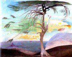 Tivadar Kosztka Csontváry Magányos cédrus (Hungarian Modernist Painter The Solitary Cedar, 1907 oil on canvas, Height: 194 cm in). Framed Art Prints, Painting Prints, Framed Wall Art, Painting Art, Oil On Canvas, Canvas Art, Canvas Prints, Artist Canvas, Watercolor On Wood