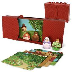 Teatro de Papel - Capuchinho Vermelho - Brinquedos de Papel
