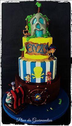 Gâteau Jack et les pirates du pays imaginaire