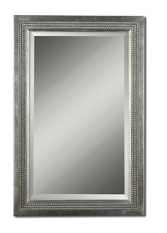 Silver Leaf Finish Rectangle Mirror with Light Gray Glaze  Click here to purchase: http://www.houzz.com/photos/17607513/Silver-Leaf-Finish-rectangle-Mirror-with-Light-Gray-Glaze-transitional-mirrors