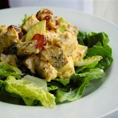 Fruited Curry Chicken Salad. I recommend blending the curry powder and mayo a day ahead of making this, to really let the flavors settle in.