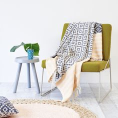 Relax in a snug layer of comfort with the Gainsborough natural cotton Diamond Weave Blanket. Soft and breathable natural cotton.