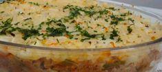 Receita de Arroz De Forno Natalino – Pilotando Fogão Pasta, Carne, Mashed Potatoes, Catering, Recipies, Food And Drink, Low Carb, Favorite Recipes, Ethnic Recipes