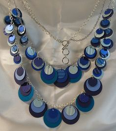 Blue Paper Necklace from beccasblend by beccasblend on Etsy