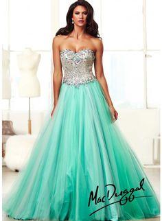 Mac Duggal 64640H Aqua/Blue Dress