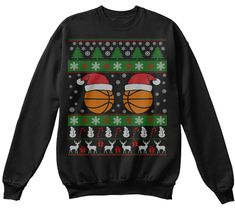 Discover Basketball Ugly Christmas Sweater Sweatshirt, a custom product made just for you by Teespring. Ugly Xmas Sweater, Christmas Sweaters, Sweater Shirt, Funny Sweatshirts, Hoodies, Gifts For Baseball Lovers, Basketball Gifts, Latest Sports News, Pullover