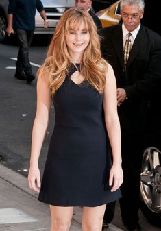 Jennifer Lawrence looked darling in this mod LBD for her appearance on the 'Late Show With David Letterman.' Brand: Raoul