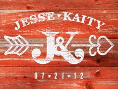 nice wedding logo and really like the barn wood.  i want to do this for us!