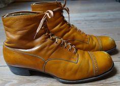 Authentic 1920 s STILLER/Berlin hand made CapToe Dress Boots, UK size 8
