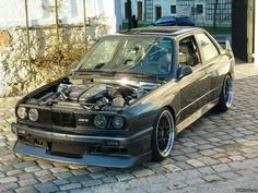 BMW E30 M3 with M6 V10 engine grey