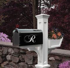 monogram mailbox ~ last name initial
