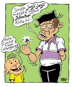 Mice Cartoon, Rakyat Merdeka; Dijamin Luntur....