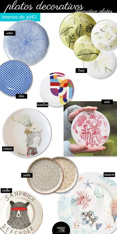 Decorando la pared con platos. Shopping list y una gran idea · Decorating your wall with plates
