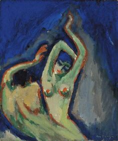 Kees van Dongen, Les deux anges, Estimate This work is offered in the Impressionist & Modern Art Evening Sale on 28 February at Christie's London Museum Of Contemporary Art, Modern Art, Painting Inspiration, Art Inspo, Picasso, Art Fauvisme, Art Sketches, Art Drawings, Impressionism Art