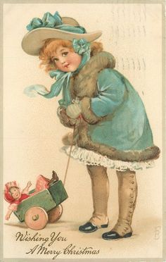 Ellen Jessie Andrews - English - (1857-1907) - vintage Christmas postcard