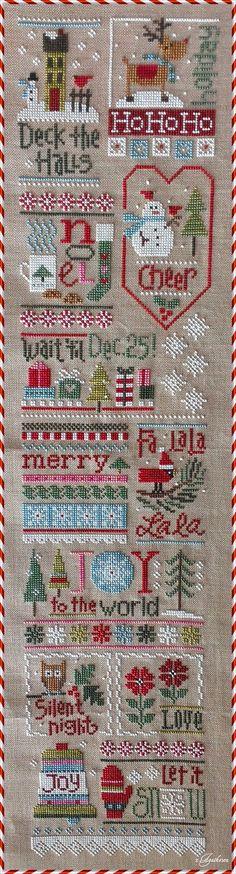 Christmas sampler cross stitch