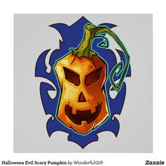 Halloween Evil Scary Pumpkin Poster