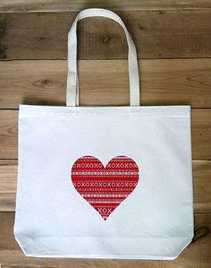 XO Heart Tote Bag- R