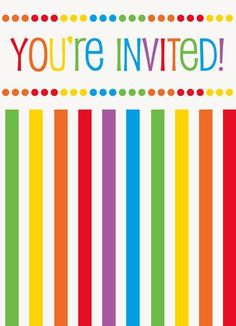 Rainbow Birthday Party Invitations (8)
