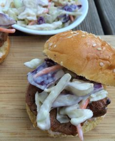 Easy Barbecue Pork Sliders with Sweet and Spicy Slaw | The Weekday Gourmet