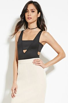 Cutout Bodysuit | FOREVER 21 saved by #ShoppingIS