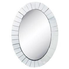 57cb1b051a79 Beveled Oval Wall Mirror. from Hobby Lobby