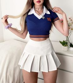 Bad And Boujee Outfits, Teen Girl Outfits, Crop Top Outfits, Kpop Fashion Outfits, Mode Outfits, Cute Fashion, Look Fashion, Outfits For Teens, Stylish Outfits