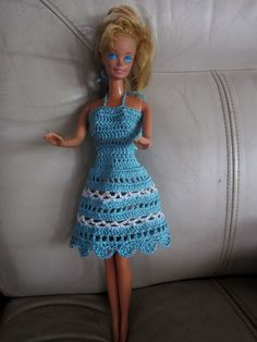 Free Crochet Barbie Dresses | Barbie doll clothes patterns – Unique ideas for Knitting n crochet