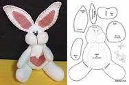 Resultado de imagem para moldes de coelhos de pascoa em feltro