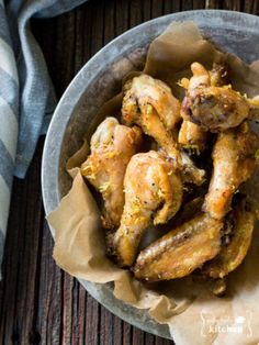Lemon Pepper Chicken Wings Paleo, Whole30 (paleofoodiekitchen.com)