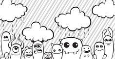 Doodle Monsters by KrimsonAngel