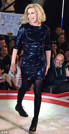 Get the party started: Katie was ready to rock as she ran up the stairs and into the house Katie Hopkins, Big Brother House, Celebrity Big Brother, Wicked Witch, Stairs, Rock, Celebrities, Party, Dresses