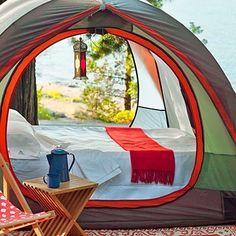 diy glamping | REI Kingdom 8 Tent