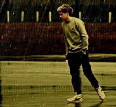 I have a little rhyme that I made up just now...Niall in the rain, i'll never be the same. He's reflective and deep as I feel the tears seep. I have him here up on my walls. He has seen me cry but, never fall. I have heart and I have a soul and Niall in the rain will never get old...So, how was that