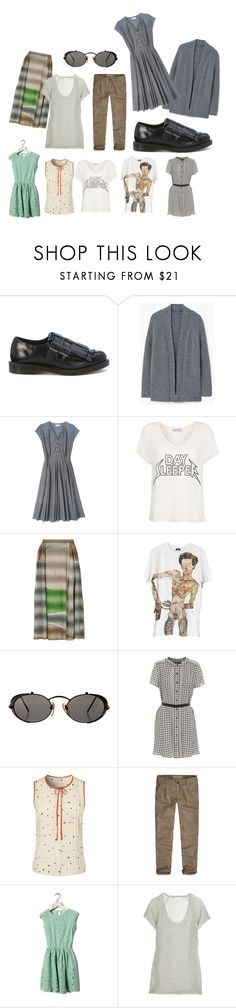 """""""Untitled #1570"""" by m-et-m ❤ liked on Polyvore featuring Dr. Martens, MANGO, Toast, Wildfox, Missoni, Jean-Paul Gaultier, Proenza Schouler, Hollister Co., Pull&Bear and Lutz & Patmos"""